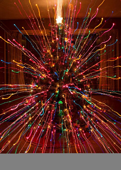 Abstracts Greeting Card featuring the photograph Christmas Tree Colorful Abstract by James BO Insogna