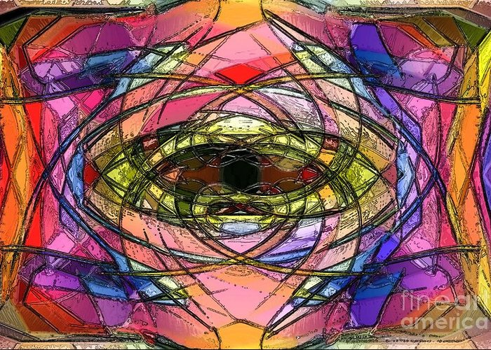 Churc Greeting Card featuring the digital art Chruch Window by Patrick Guidato
