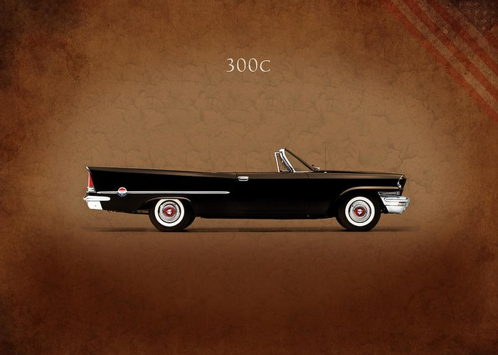 Chrysler 300 Greeting Card featuring the photograph Chrysler 300c 1957 by Mark Rogan