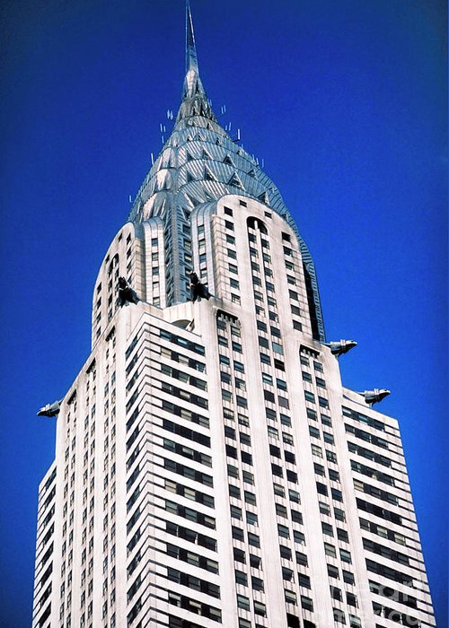 Chrysler Building Greeting Card featuring the photograph Chrysler Building by John Greim