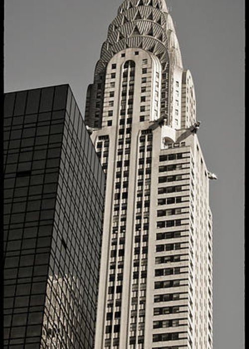Chrysler Buidling Greeting Card featuring the photograph Chrysler Building New York by Juergen Held