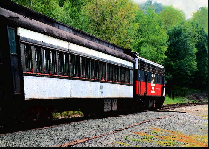 Train Greeting Card featuring the photograph Chugging Along by RC DeWinter