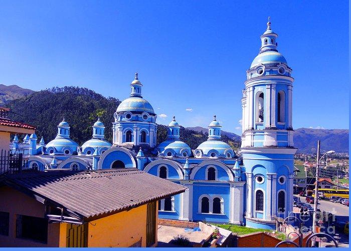 Al Bourassa Greeting Card featuring the photograph Church In Banos Ecuador by Al Bourassa