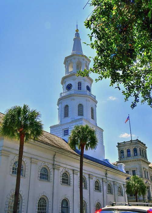 Church Greeting Card featuring the photograph Church In Charleston by TJ Baccari