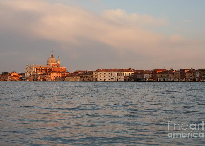 Venice Greeting Card featuring the photograph Church Of The Redentore In Venice Across The Giudecca Canal by Michael Henderson