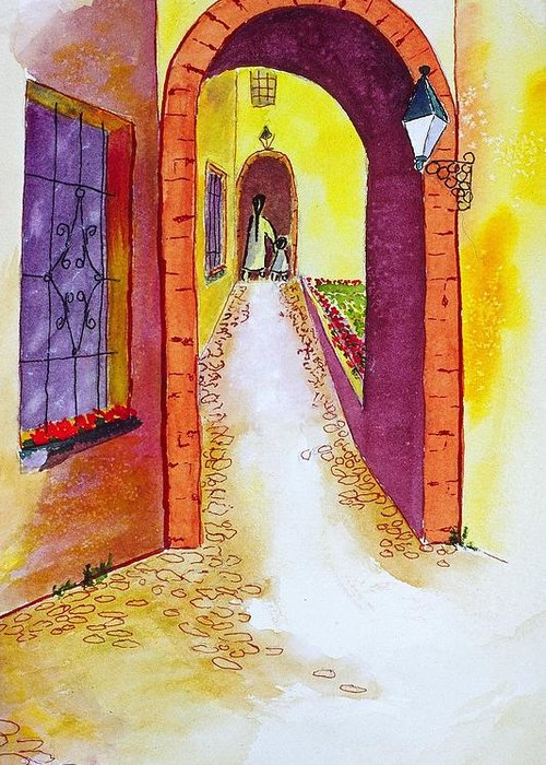 Cinca Terra Greeting Card featuring the painting Cinca Terra Passage by Buster Dight