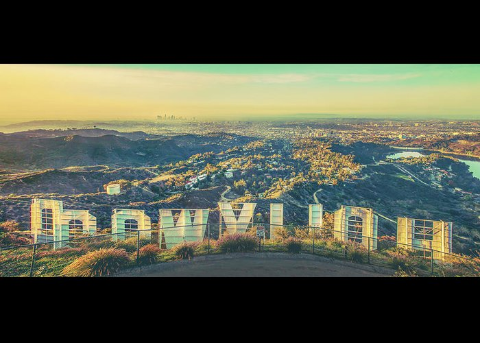 Los Angeles Greeting Card featuring the photograph Cinematic by Az Jackson