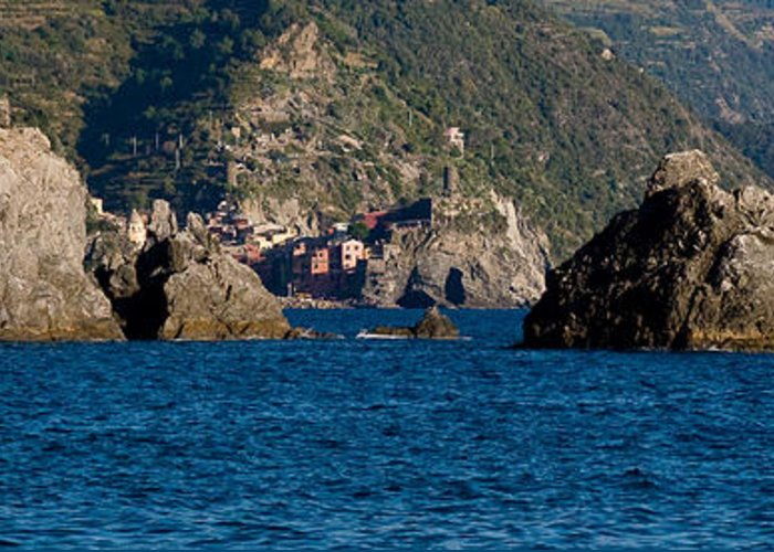 Boat Greeting Card featuring the photograph Cinque Terre Coast by Carl Jackson