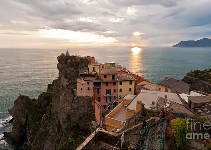 Manarola Greeting Card featuring the photograph Cinque Terre Tranquility by Mike Reid