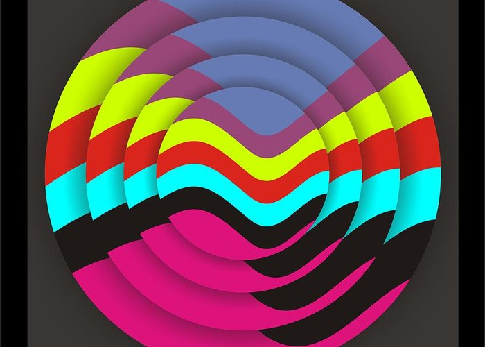 Abstract Greeting Card featuring the digital art Circadium by Walter Oliver Neal