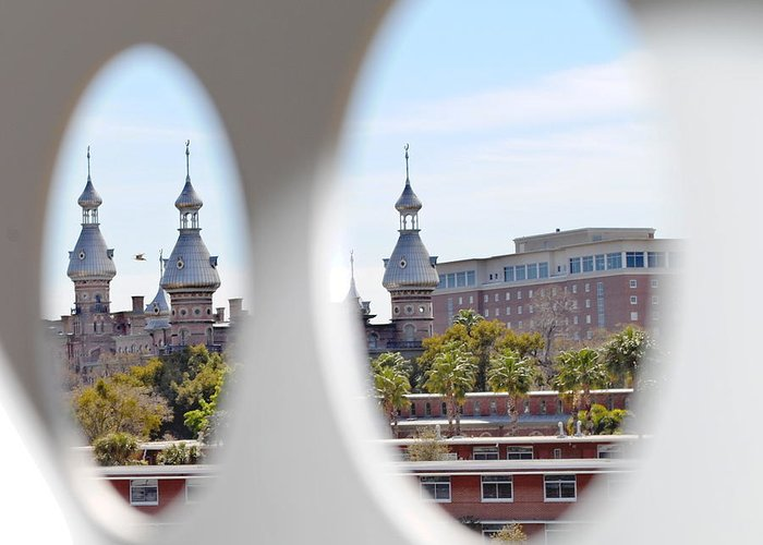University Of Tampa Greeting Card featuring the photograph Circle Ot Tampa by Jost Houk