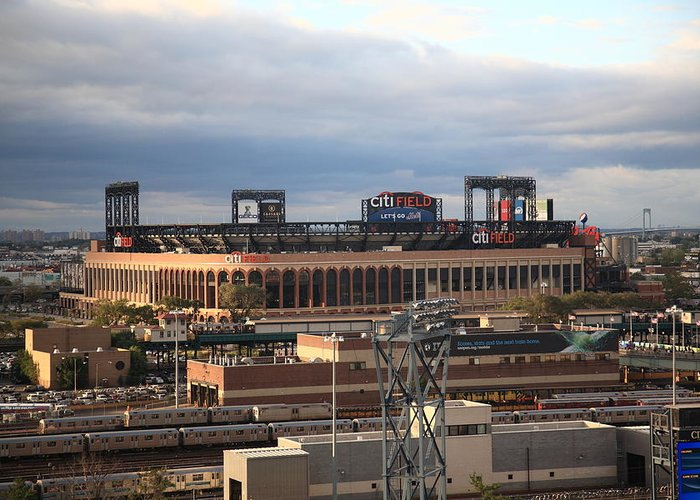 Framed Greeting Card featuring the photograph Citi Field - New York Mets by Frank Romeo