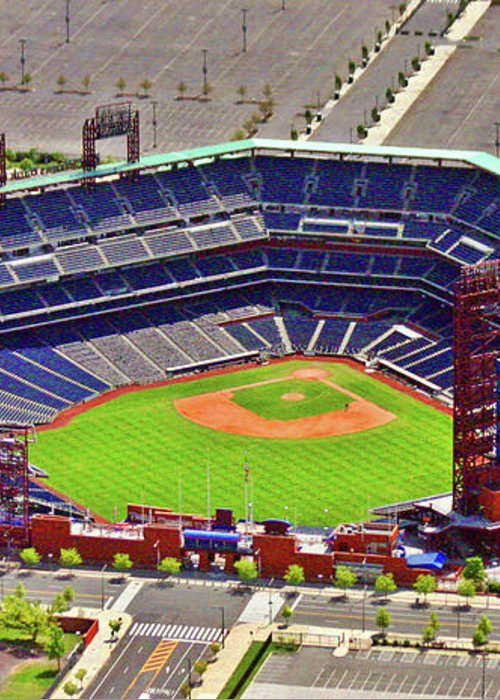 Aerial Photograph Greeting Card featuring the photograph Citizens Bank Park Phillies by Duncan Pearson