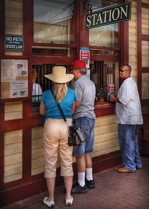 Savad Greeting Card featuring the photograph City - Lancaster Pa - The Train Station by Mike Savad