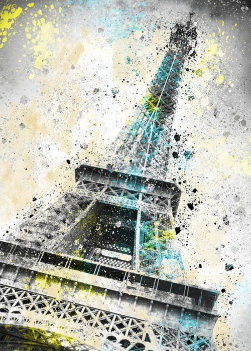 Europe Greeting Card featuring the photograph City-art Paris Eiffel Tower Iv by Melanie Viola