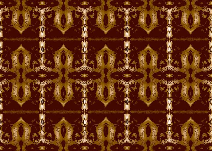 Abstract Pattern Greeting Card featuring the digital art City Brown by Elisabeth Skajem Atter