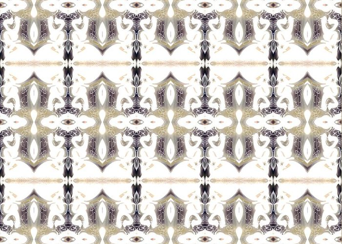 Abstract Pattern Greeting Card featuring the digital art City by Elisabeth Skajem Atter
