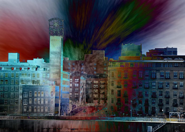 Cityscape Greeting Card featuring the photograph City In Transmission by John Ricker
