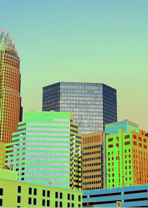 Charlotte Greeting Card featuring the photograph City Of Colors by Karol Livote