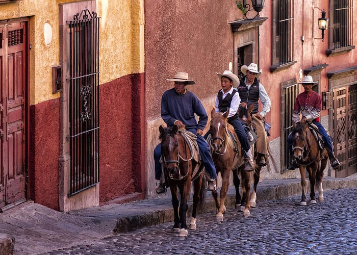 City Riding Greeting Card featuring the photograph City Riding by Lindley Johnson