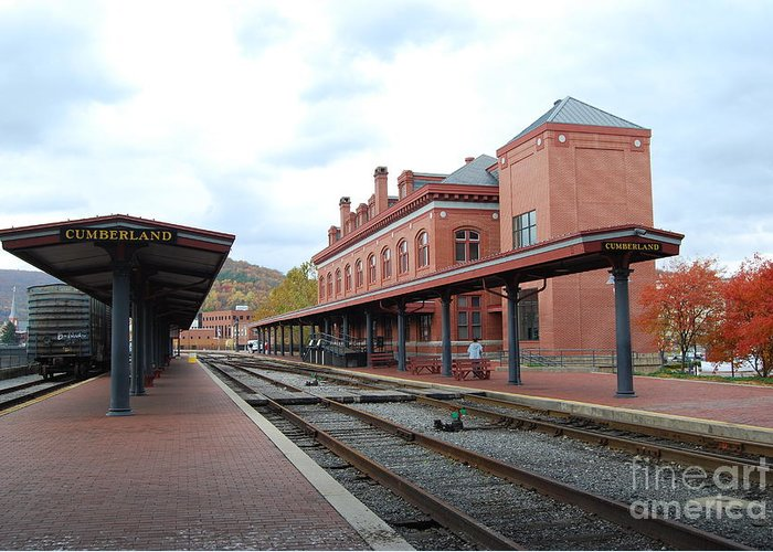 Historic Greeting Card featuring the photograph Cumberland City station by Eric Liller