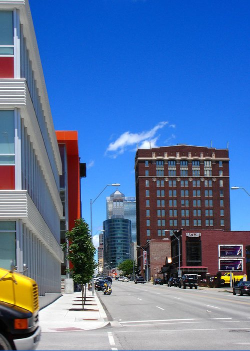 Kansas City Greeting Card featuring the photograph City Street by Steve Karol