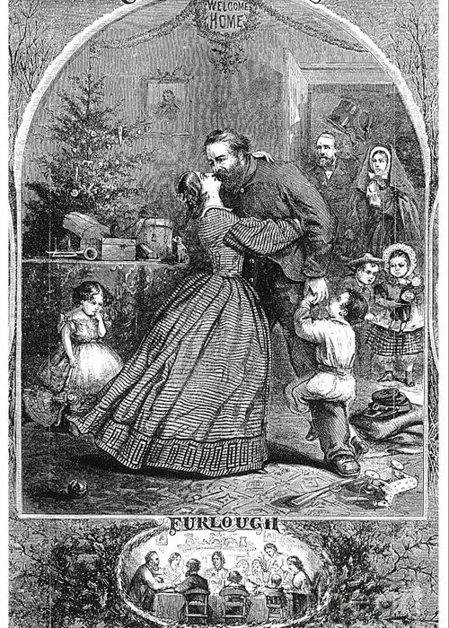 1863 Greeting Card featuring the photograph Civil War: Christmas by Granger