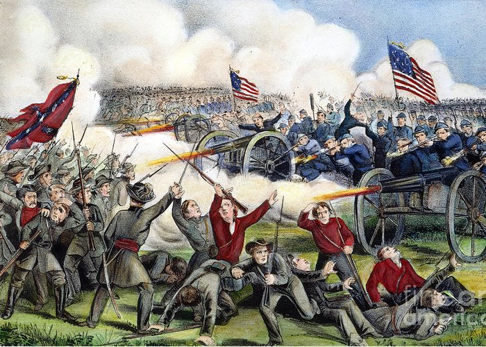 1863 Greeting Card featuring the photograph Civil War: Gettysburg, 1863 by Granger