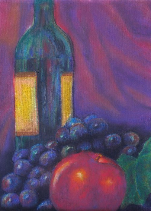 Pastel Greeting Card featuring the painting Clarity by Lou Ewers