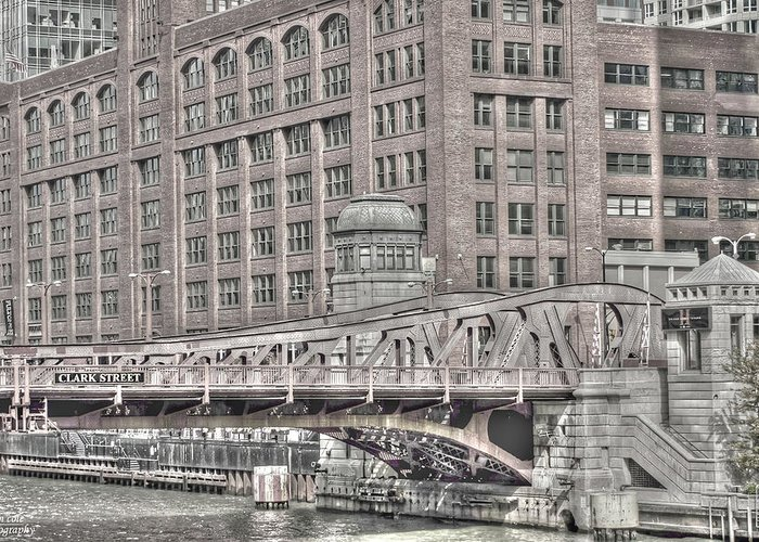 Chicago Greeting Card featuring the photograph Clark Street Bridge by Jim Cole