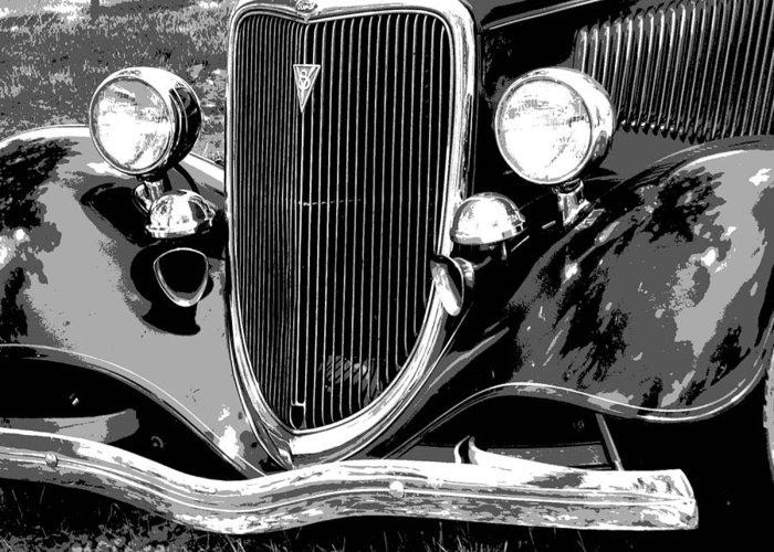 Car Greeting Card featuring the photograph Classic 2 by Audrey Venute