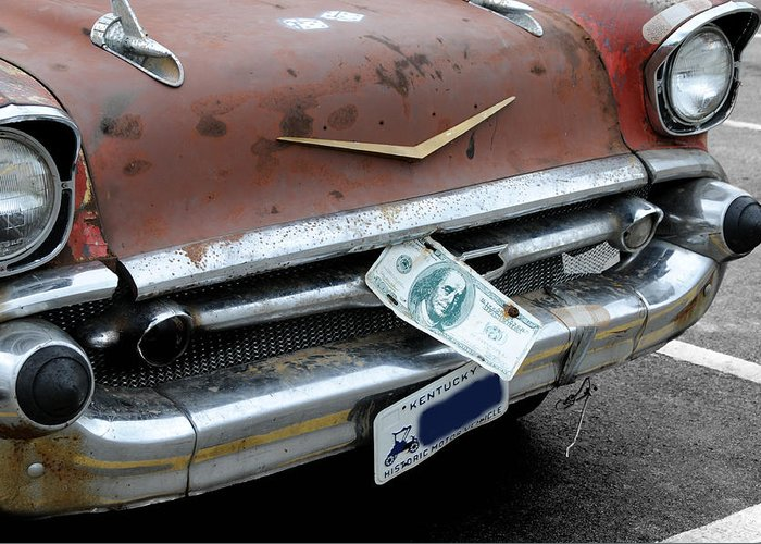 Chevy Greeting Card featuring the photograph Classic '57 Chevy by Lyle Huisken