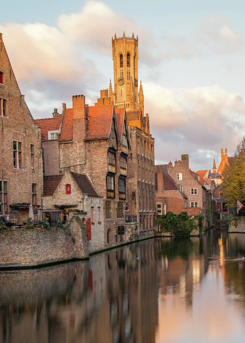 Rozenhoedkaai Greeting Card featuring the photograph Classic Bruges by Dalibor Hanzal