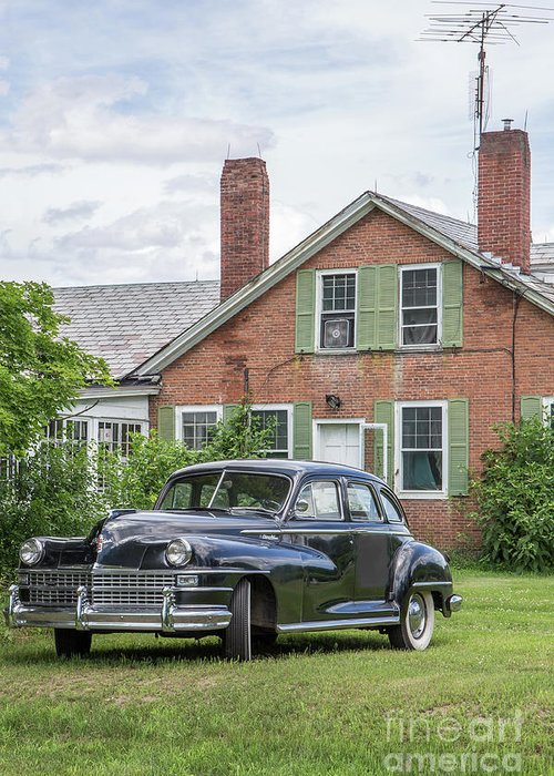 Car Greeting Card featuring the photograph Classic Chrysler 1940s Sedan by Edward Fielding