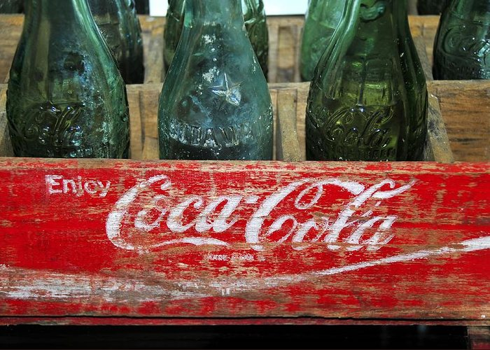 Fine Art Photography Greeting Card featuring the photograph Classic Coke by David Lee Thompson