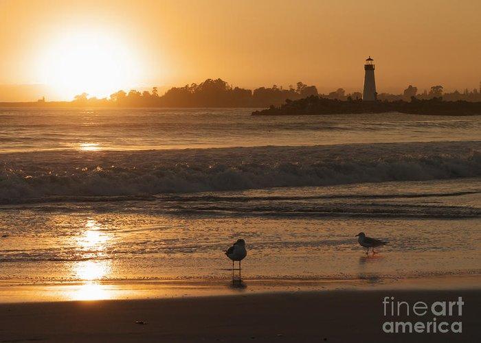 Santa Cruz Greeting Card featuring the photograph Classic Santa Cruz Sunset by Paul Topp