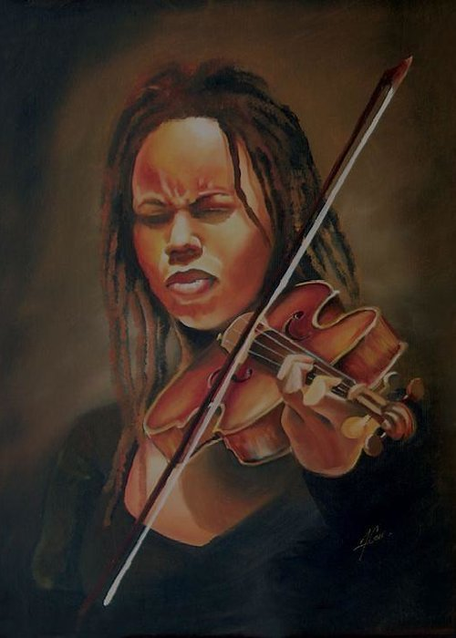 Painting Greeting Card featuring the painting Classical Jazz by Anthony Carr