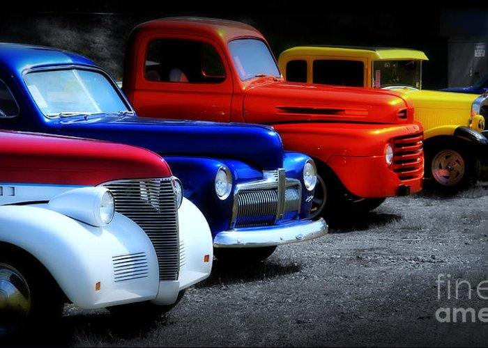 Car Greeting Card featuring the photograph Classics by Perry Webster