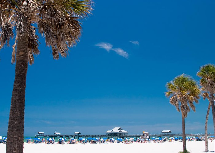 3scape Greeting Card featuring the photograph Clearwater Beach by Adam Romanowicz