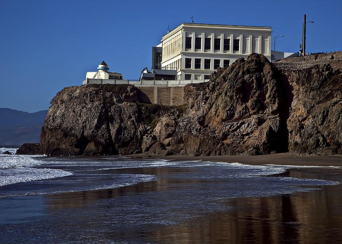 Cliff House San Francisco Pacific Ocean Tourism Greeting Card featuring the photograph Cliff House San Francisco by Garry Gay