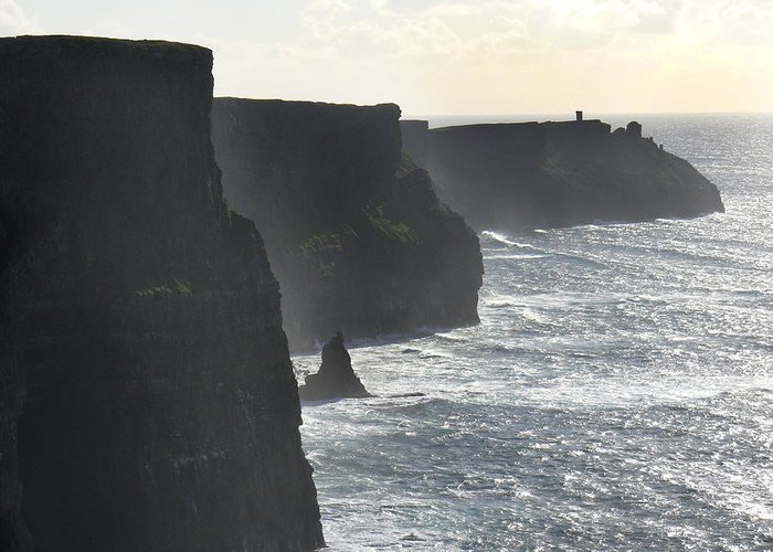 Travel Greeting Card featuring the photograph Cliffs Of Moher 1 by Mike McGlothlen