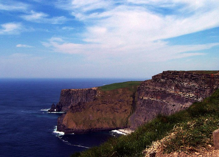 Irish Greeting Card featuring the photograph Cliffs Of Moher Aill Na Searrach Ireland by Teresa Mucha