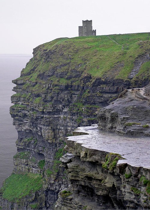 Cliff Greeting Card featuring the photograph Cliffs Of Moher Ireland by Charles Harden