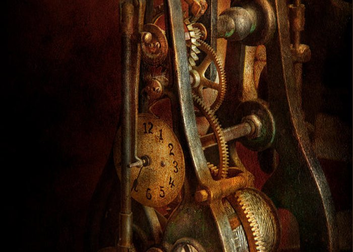 Hdr Greeting Card featuring the photograph Clockmaker - Careful I Bite by Mike Savad