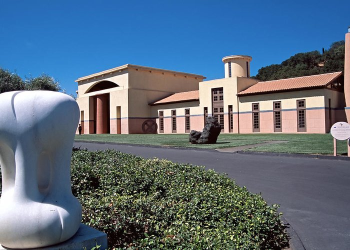 Architecture Greeting Card featuring the photograph Clos Pegase Winery Napa Valley by George Oze