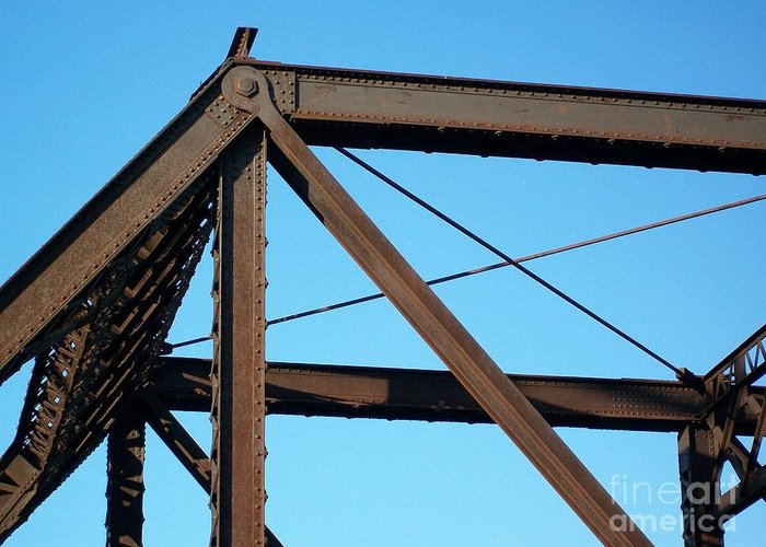 Photo Greeting Card featuring the photograph Close Up Bridge by Marsha Heiken