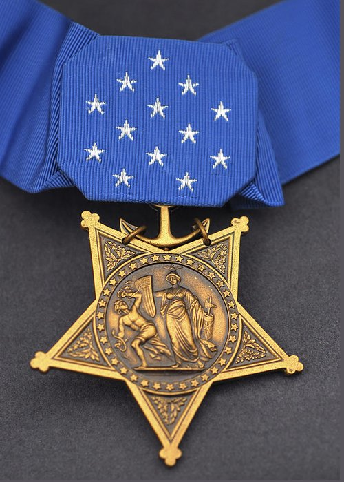 Medal Of Honor Greeting Card featuring the photograph Close-up Of The Medal Of Honor Award by Stocktrek Images