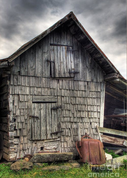 Landscape Greeting Card featuring the photograph Closed For Business by Pete Hellmann