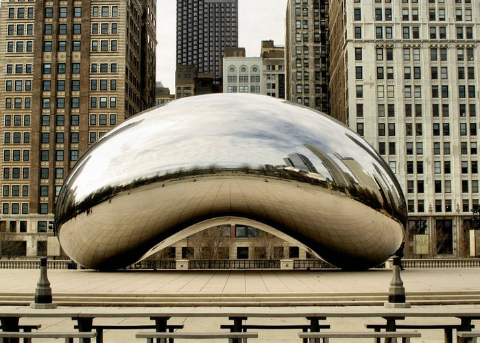 Chicago Greeting Card featuring the photograph Cloud Gate - 3 by Ely Arsha