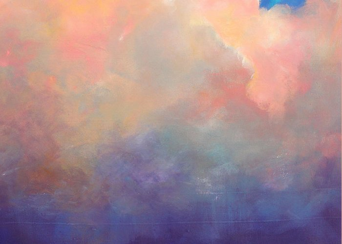 Clouds Greeting Card featuring the painting Cloud Light by Toni Grote